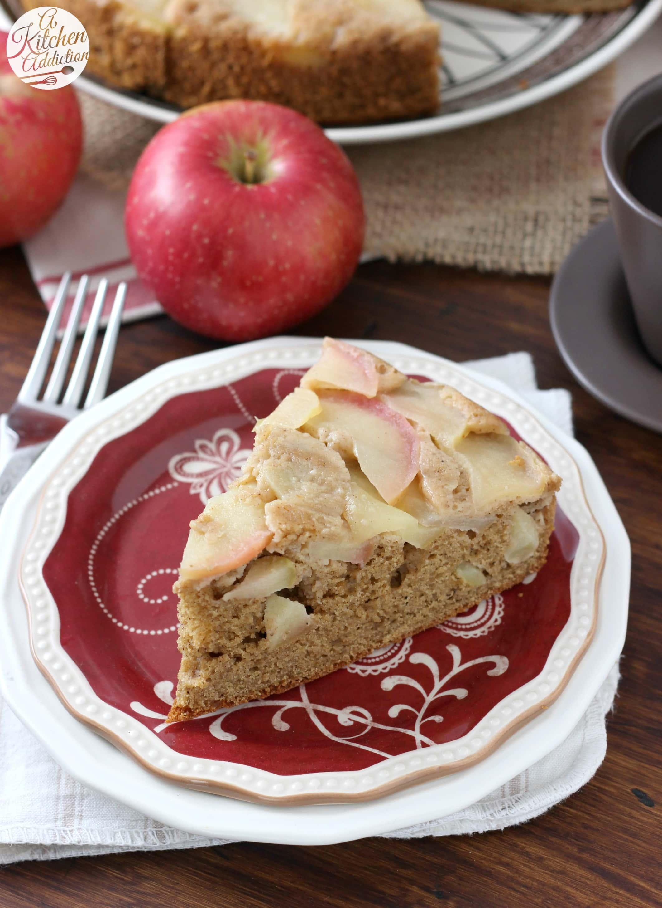 Honey Apple Upside Down Yogurt Cake Recipe from A Kitchen Addiction