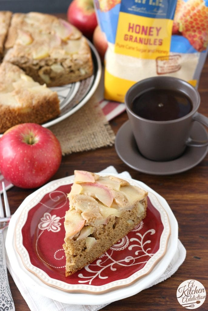 Honey Apple Upside Down Cake Recipe from A Kitchen Addiction