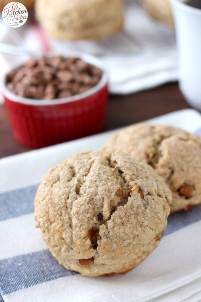 Maple Cinnamon Chip Scones from A Kitchen Addiction