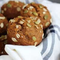 One Bowl Pumpkin Oat Muffins + GIVEAWAY!