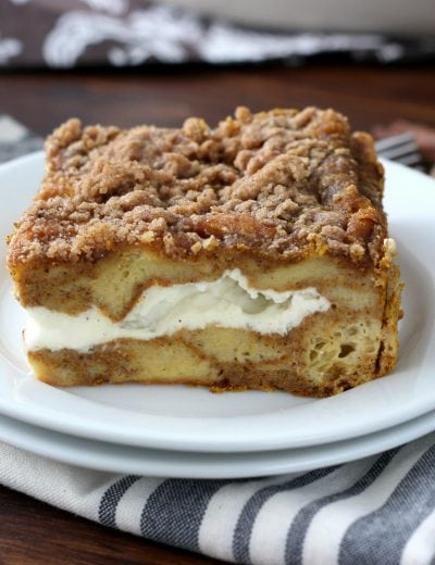 Pumpkin Cheesecake French Toast Bake