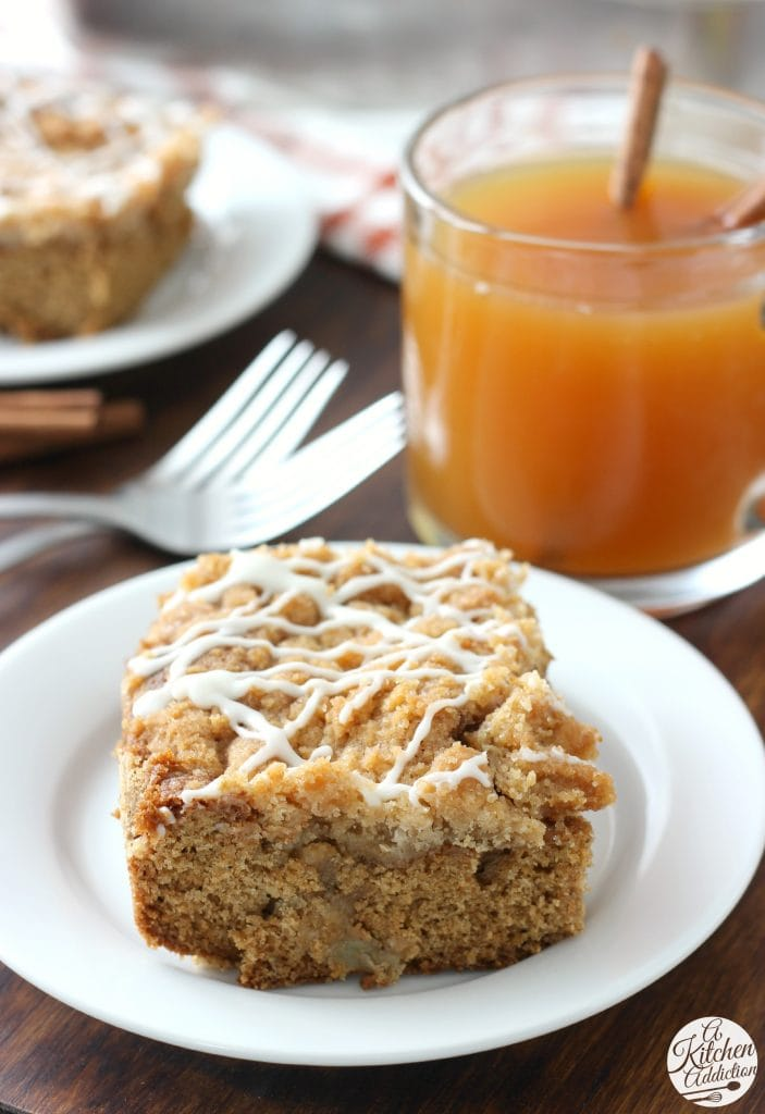 Apple Cider Coffee Cake Recipe from A Kitchen Addiction