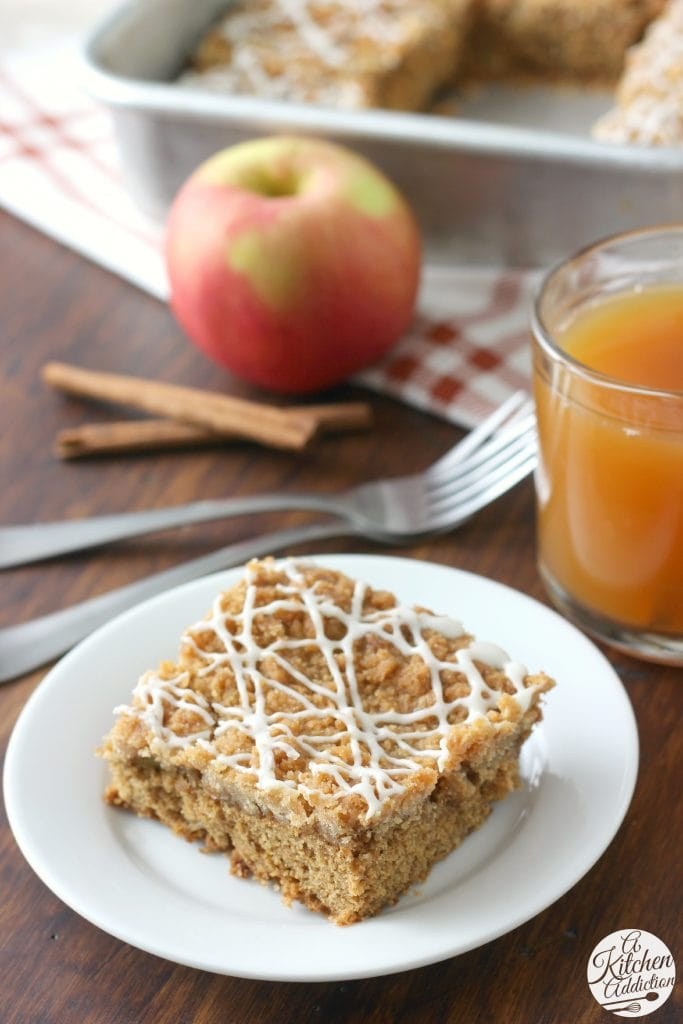 Fall Apple Cider Crumb Cake Recipe from A Kitchen Addiction