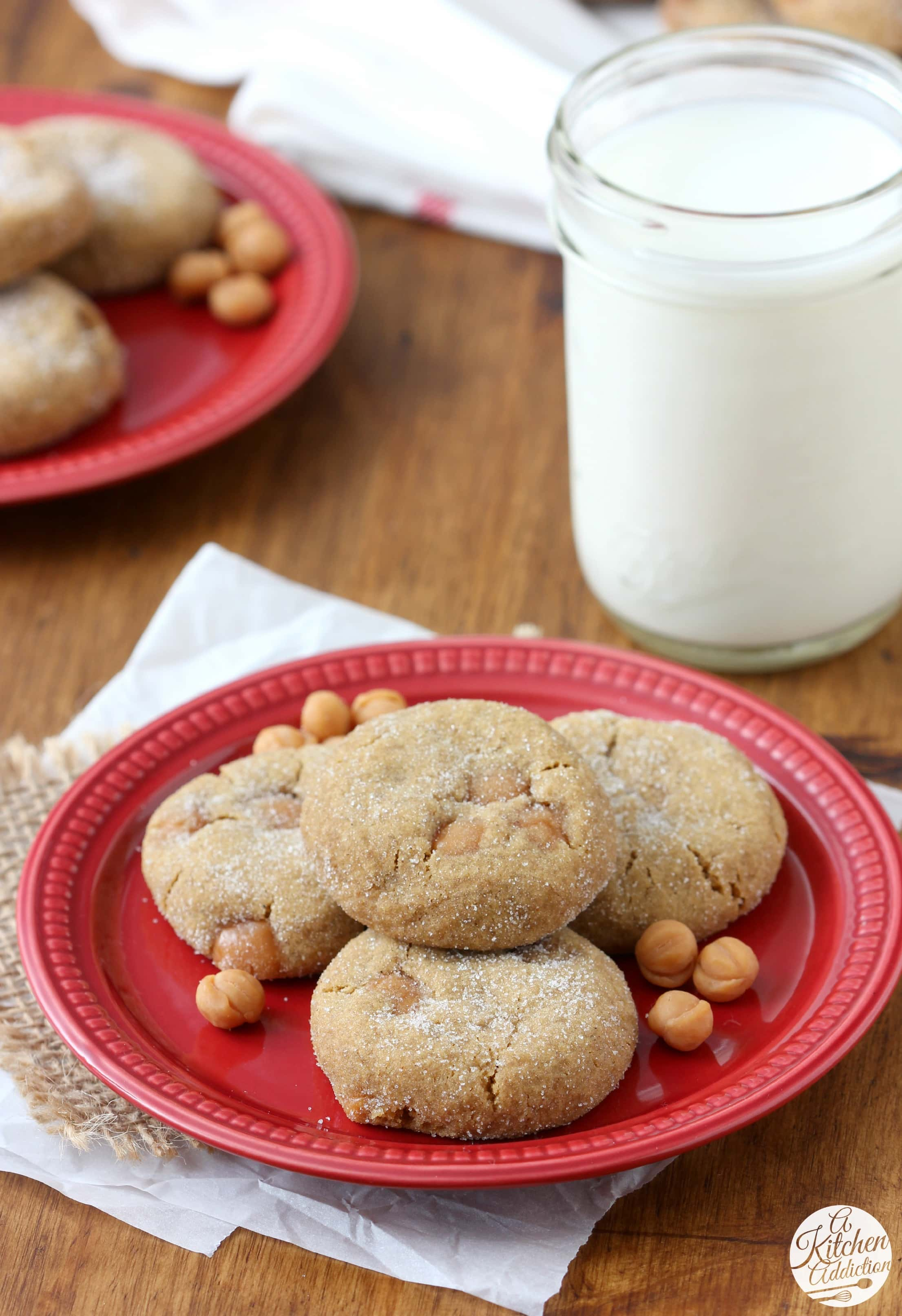 Easy Soft Baked Caramel Ginger Cookies Recipe from A Kitchen Addiction