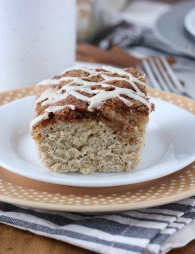 Dairy Free Eggnog Cinnamon Swirl Cake