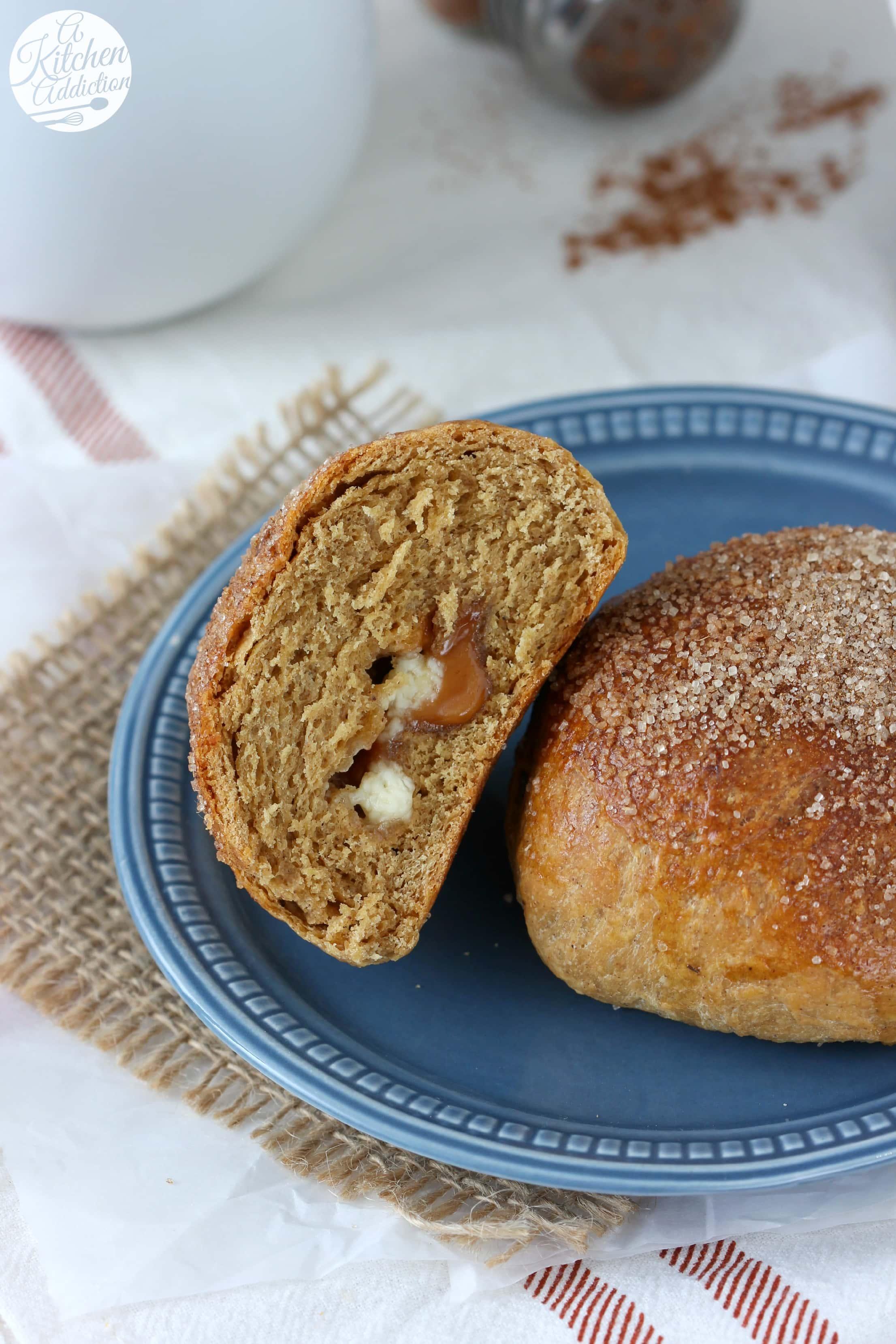 White Chocolate Caramel Gingerbread Brioche Recipe from A Kitchen Addiction