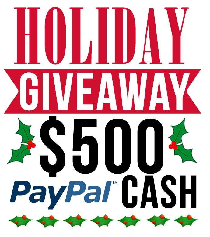 Holiday Giveaway – $500 Cash