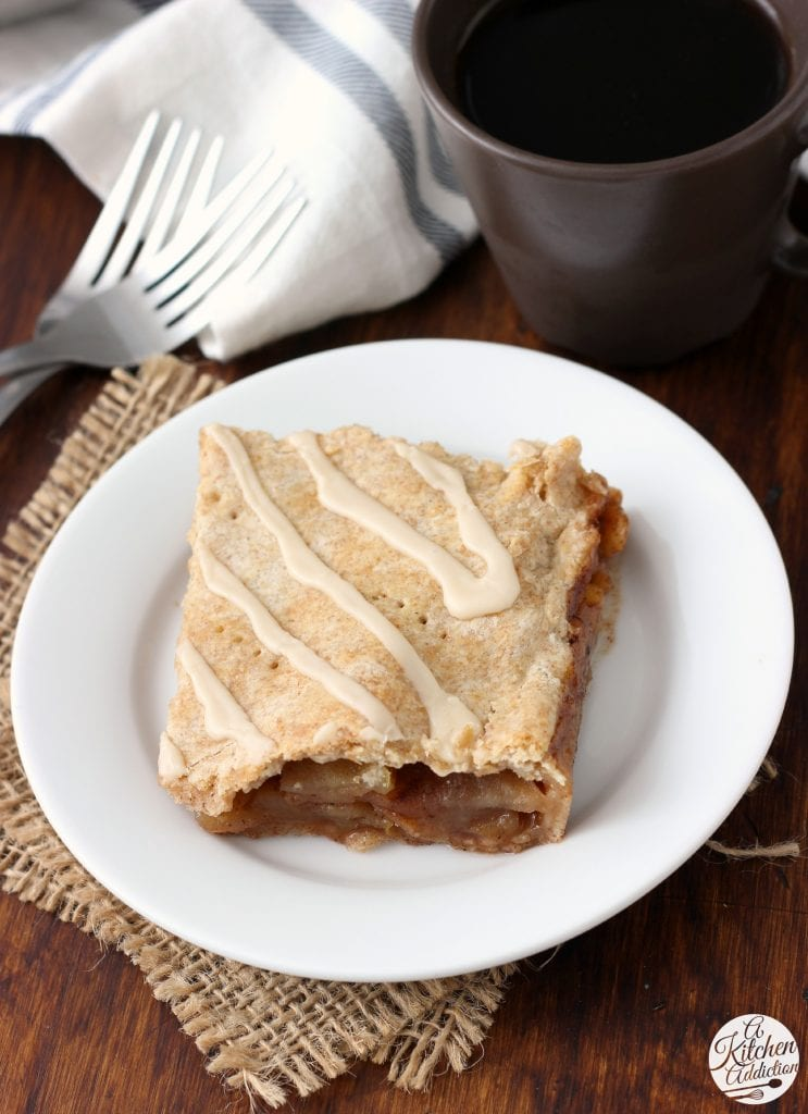 Maple Glazed Apple Slab Pie Recipe from A Kitchen Addiction