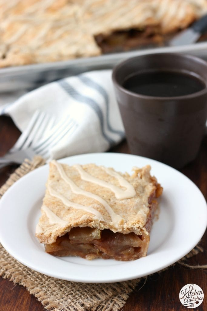Maple Glazed Apple Pan Pie Recipe from A Kitchen Addiction