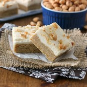 Frosted Maple Peanut Butter Bars Recipe from A Kitchen Addiction