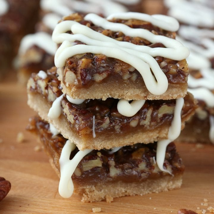 Easy Spiced Honey Pecan Pie Bars Recipe from A Kitchen Addiction