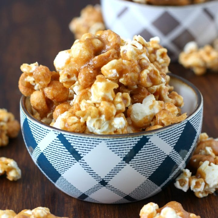Sweet and Spicy Caramel Corn Recipe from A kitchen Addiction