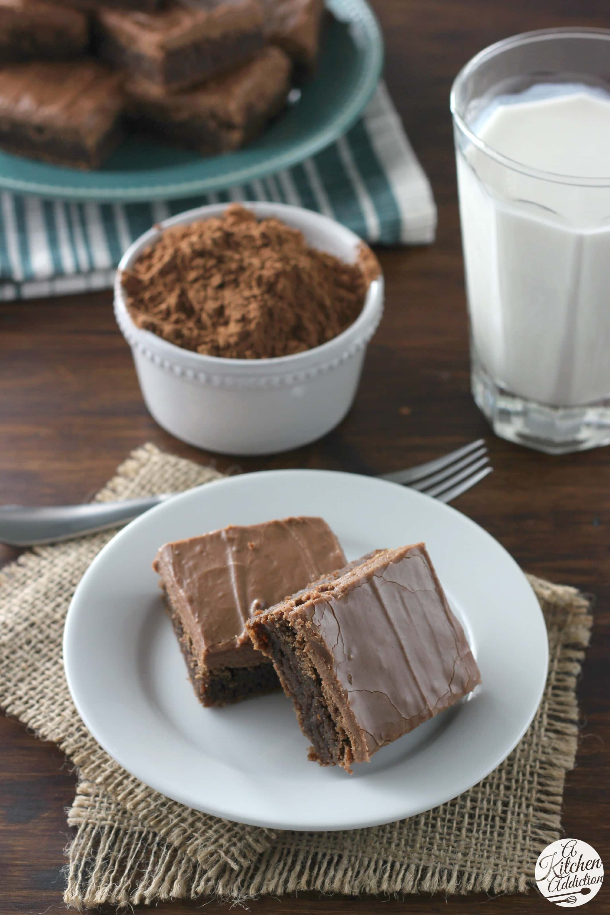 Homemade Buttermilk Brownies Recipe from A Kitchen Addiction