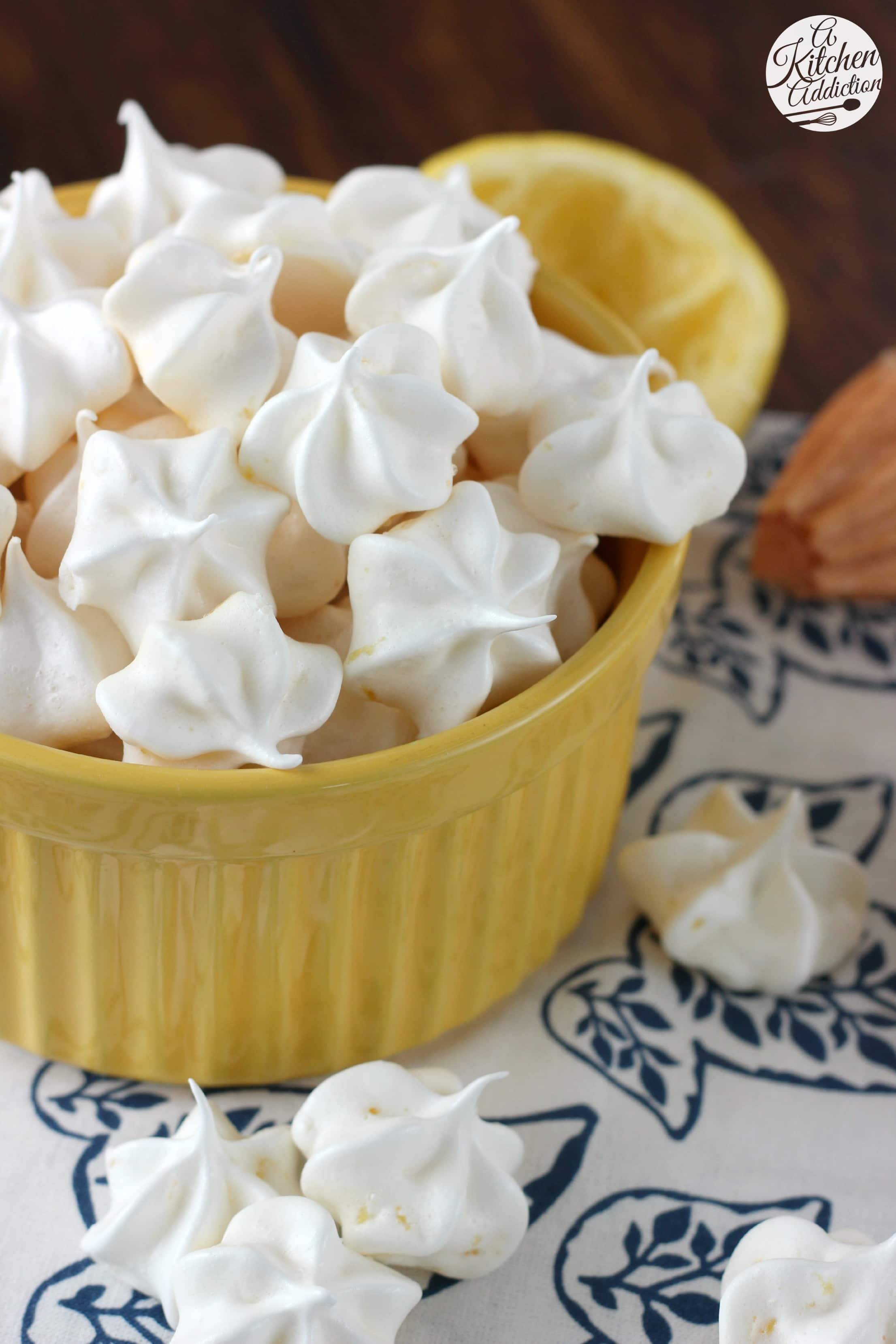 Lemon Meringue Kiss Cookies Recipe from A Kitchen Addiction