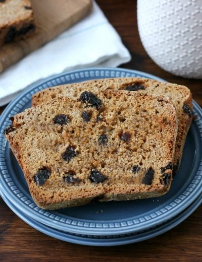 Easy Cinnamon Raisin Honey Wheat English Muffin Bread Recipe from A Kitchen Addiction