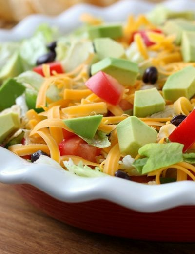 Lightened Up Ranch Taco Dip Recipe from A Kitchen Addiction