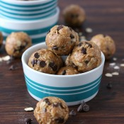Easy Peanut Butter Oatmeal Cookie Granola Bites Recipe from A Kitchen Addiction