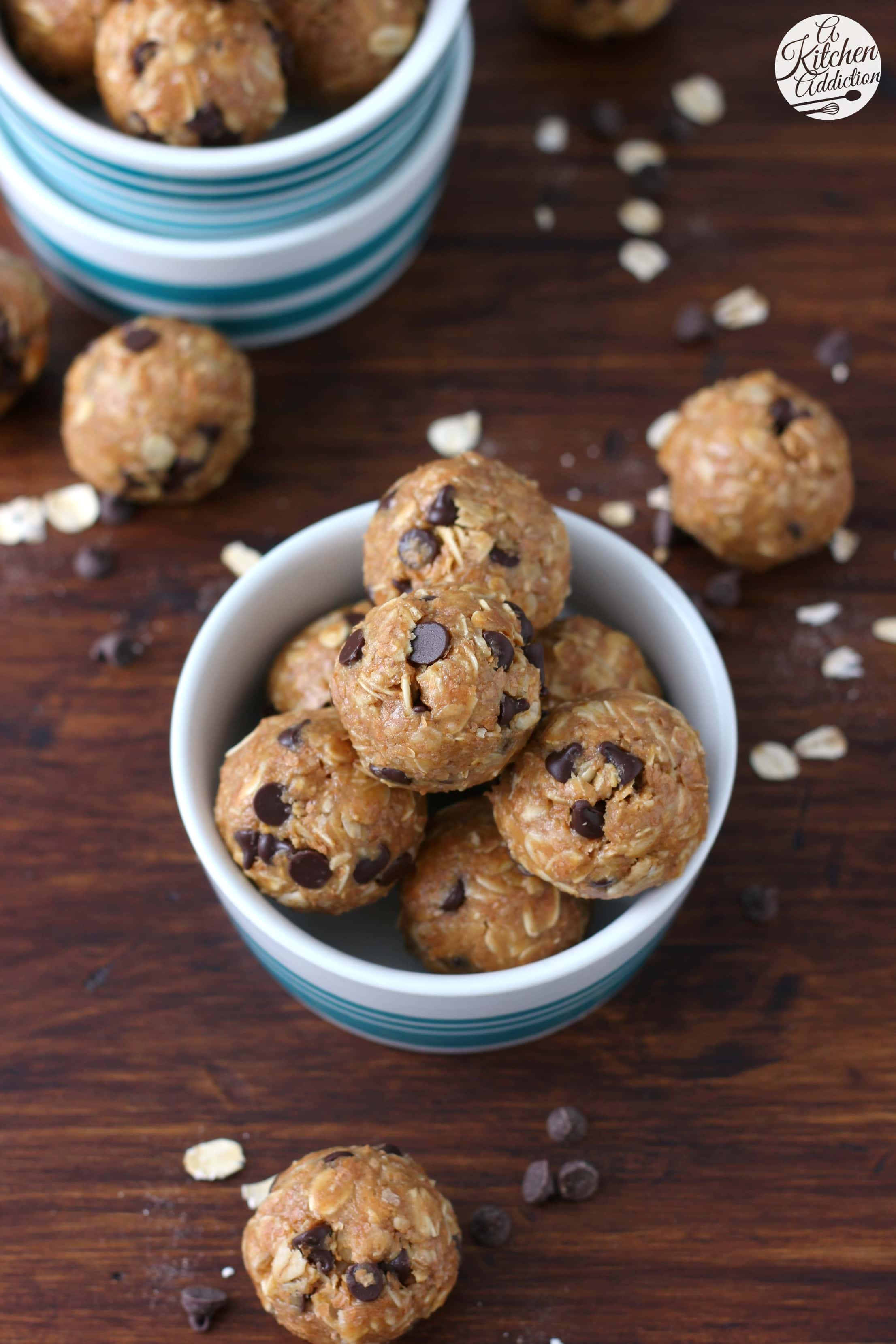 Peanut Butter Oatmeal Cookie Granola Bites Recipe from A Kitchen Addiction