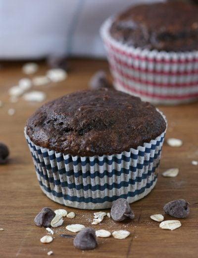 Double Chocolate Yogurt Oat Muffins