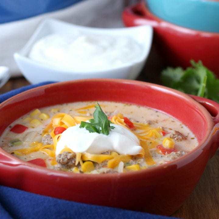 Loaded White Turkey Chili Recipe from A Kitchen Addiction
