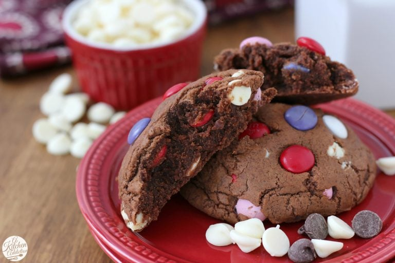 Triple Chocolate Fudge Cookies - A Kitchen Addiction