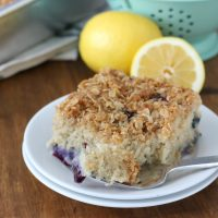 Gluten Free Blueberry Lemon Coffee Cake