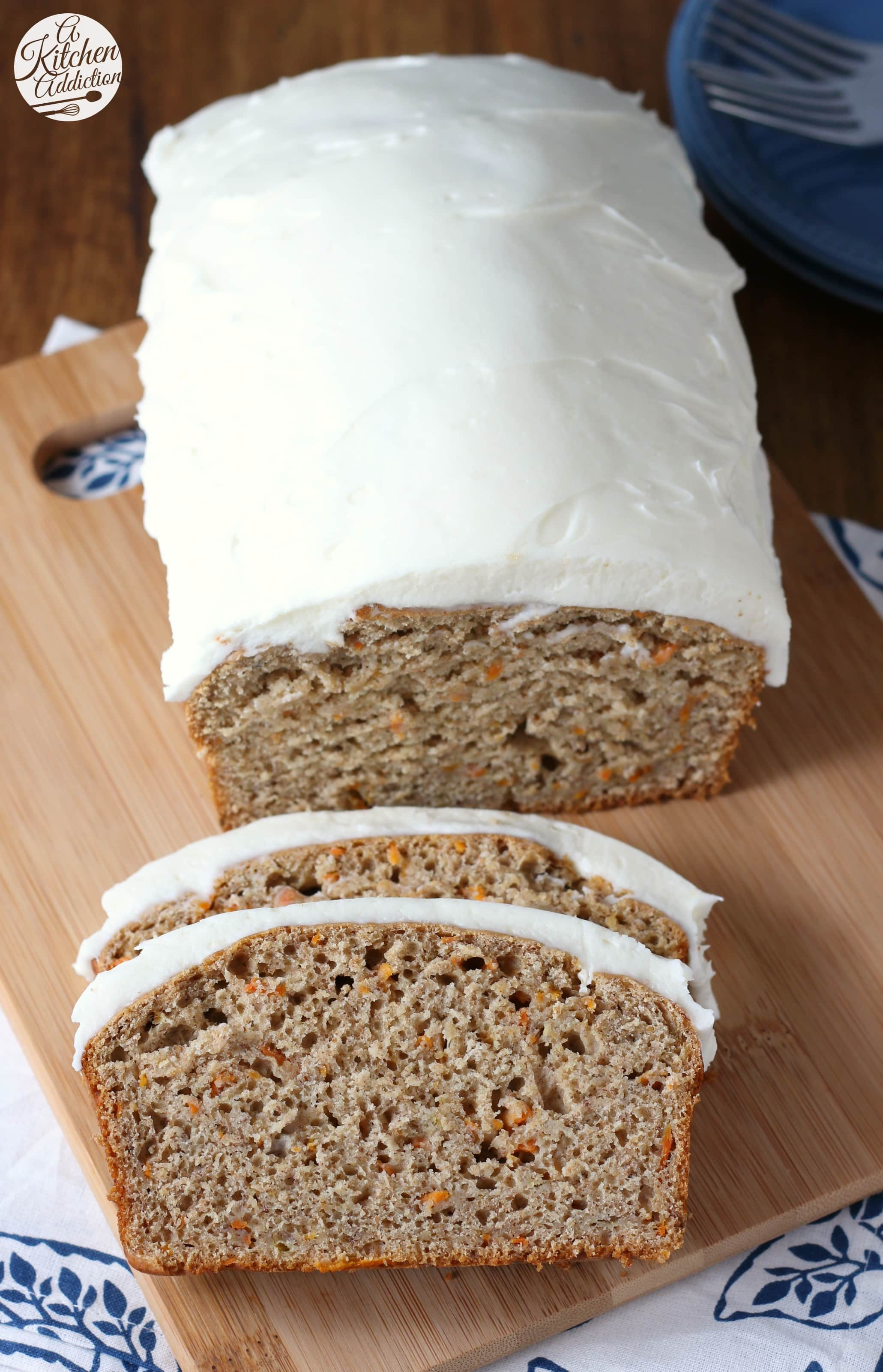 Quick and Easy Carrot Cake Banana Bread with Cream Cheese Frosting