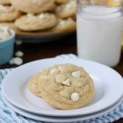 Chewy White Chocolate Lemon Cookies Recipe from A Kitchen Addiction
