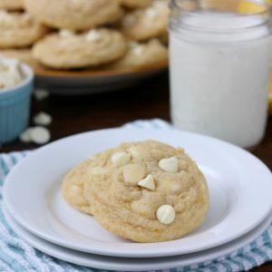 Chewy White Chocolate Lemon Cookies