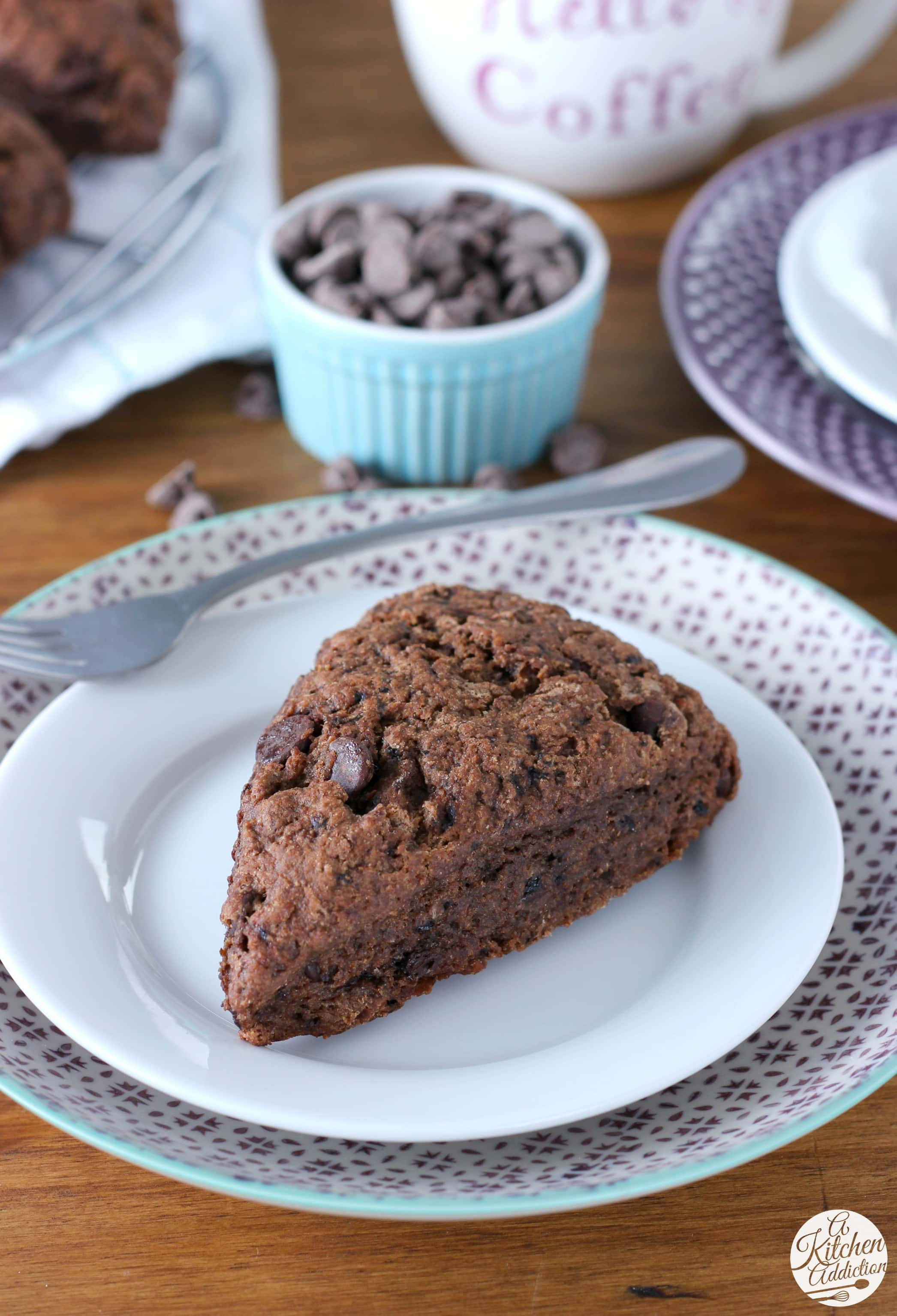Easy Mocha Chip Scones Recipe from A Kitchen Addiction