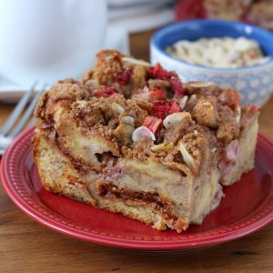 Strawberry Honey Almond French Toast Bake