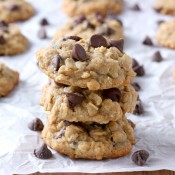 Chocolate Chip Honey Oatmeal Cookies Recipe from A Kitchen Addiction