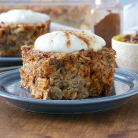 Cinnamon Chip Banana Bread Baked Oatmeal