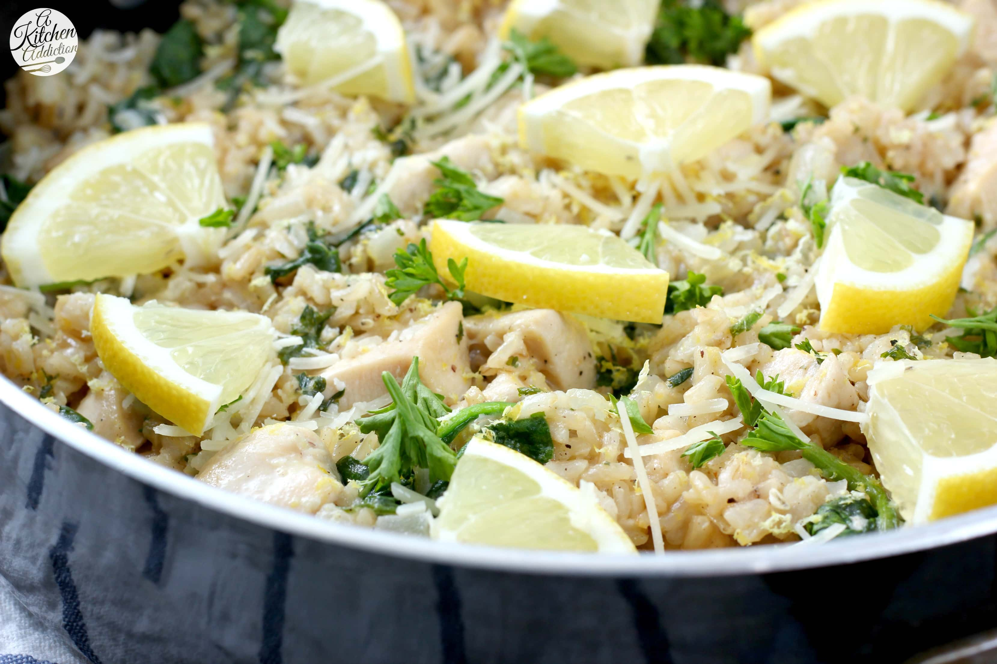 Lemon Parmesan Chicken and Rice Skillet