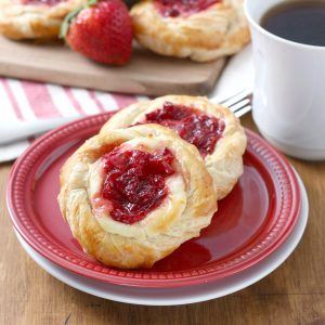Strawberries and Cream Danishes