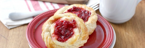 Strawberries and Cream Danishes Recipe from A Kitchen Addiction