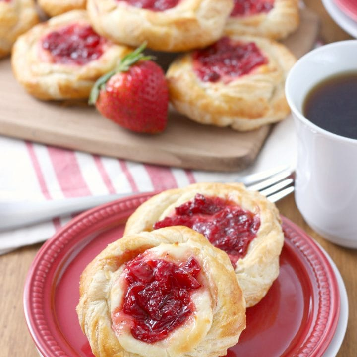 Strawberries and Cream Cheese Danishes Recipe for A Kitchen Addiction