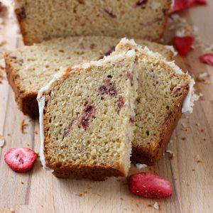 Strawberry Coconut Yogurt Quick Bread