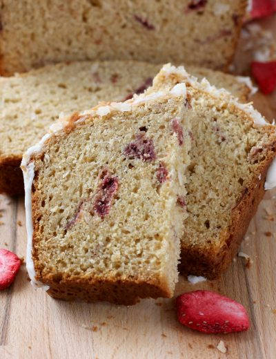 Strawberry Coconut Yogurt Quick Bread