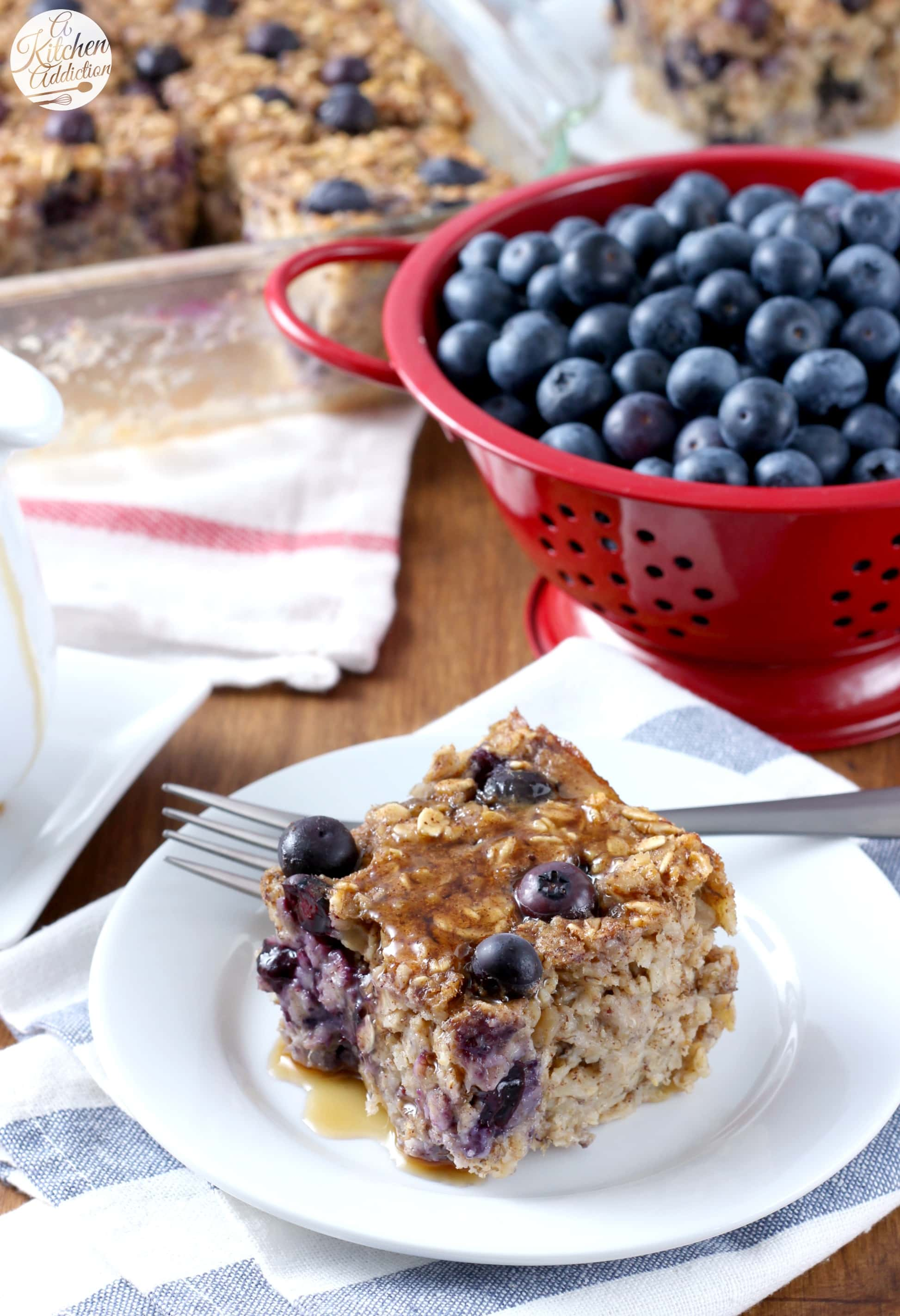 Healthy Blueberry Banana Bread Baked Oatmeal