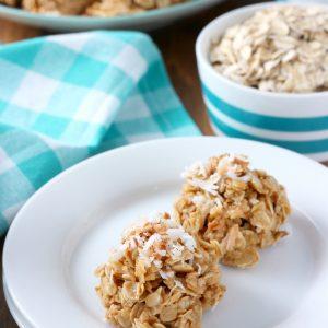 Lightened Up Coconut Peanut Butter No Bake Cookies