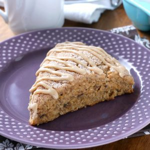 Honey Cinnamon Banana Bread Scones