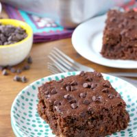 One Bowl Chocolate Zucchini Snack Cake
