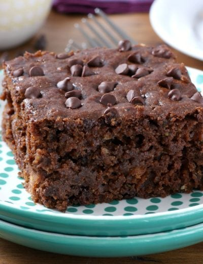 One Bowl Chocolate Zucchini Snack Cake