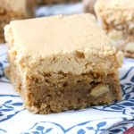 Spiced Apple Bars with Peanut Butter Frosting Recipe from A Kitchen Addiction