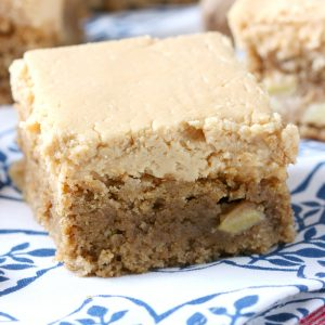 Spiced Apple Bars with Peanut Butter Buttercream
