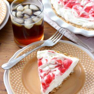 Strawberry Lemonade Iced Tea Pie