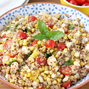 Caprese Quinoa Salad with Sweet Corn
