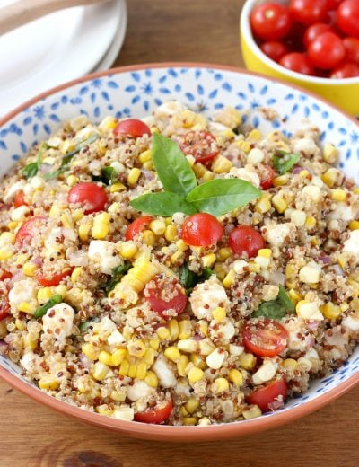 Caprese Quinoa Salad with Sweet Corn