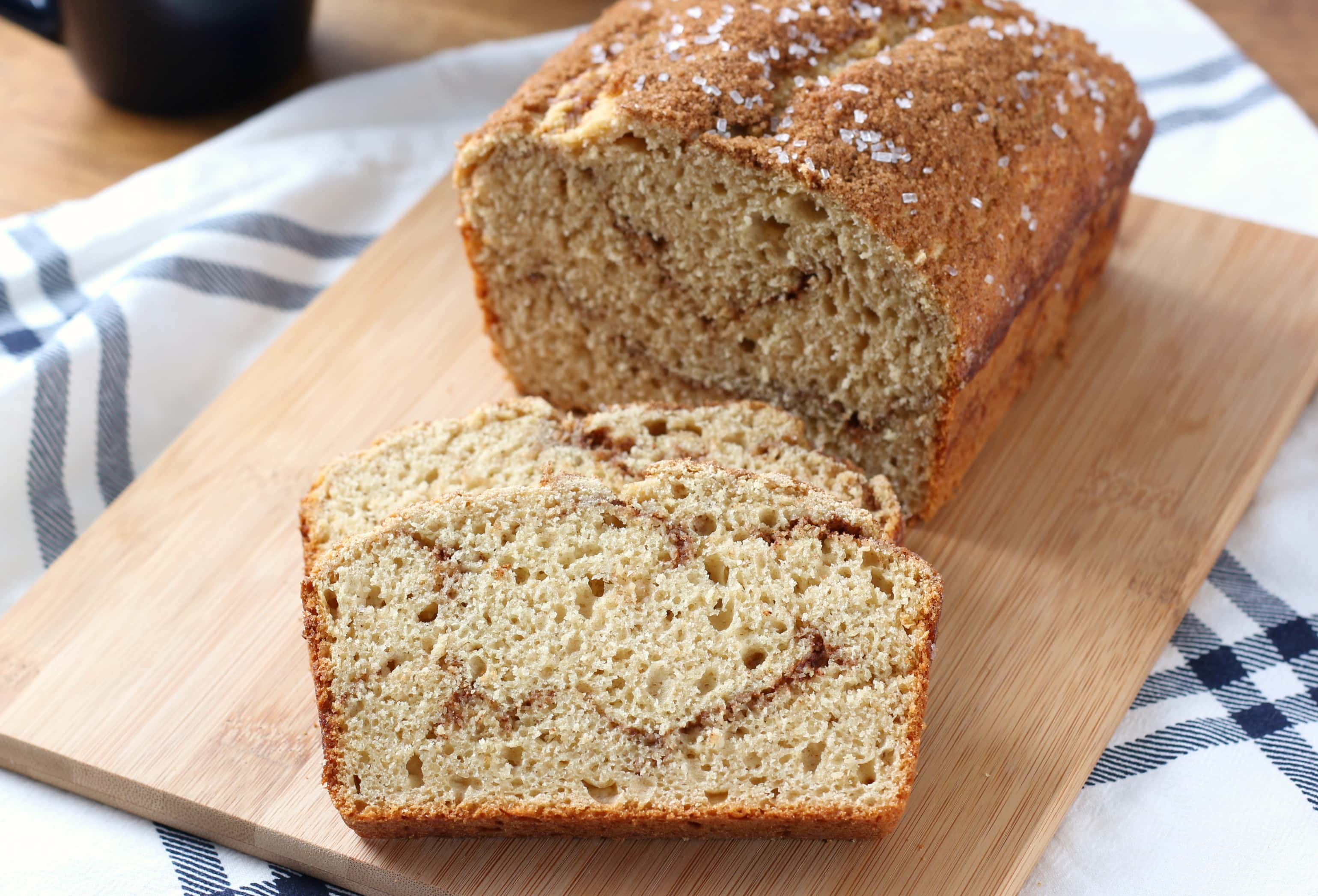 Cinnamon Swirl Maple Yogurt Bread Recipe from A Kitchen Addiction